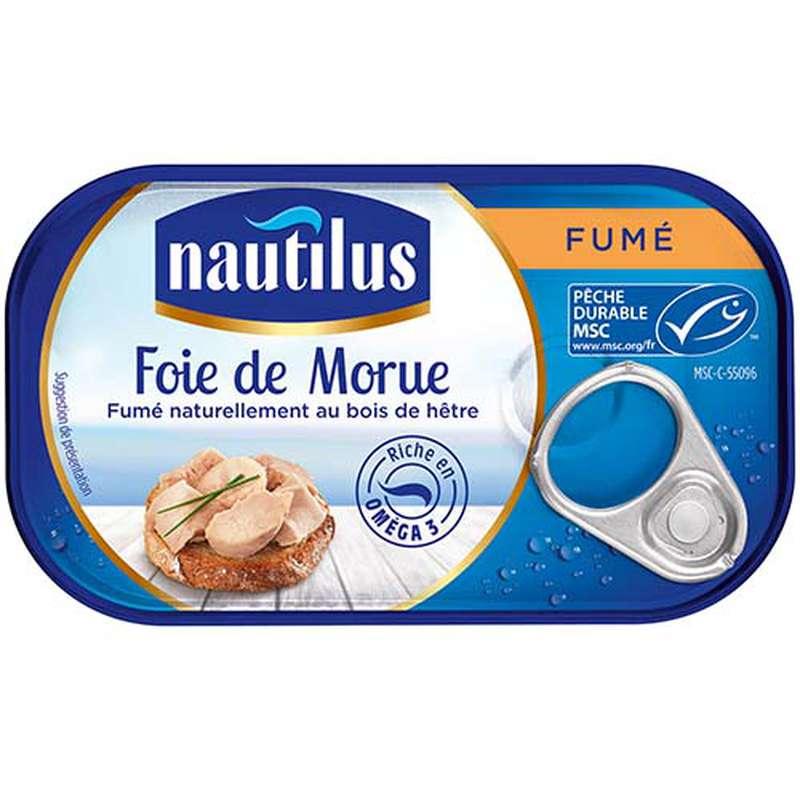 Foie de morue fumé, Nautilus (120 g)