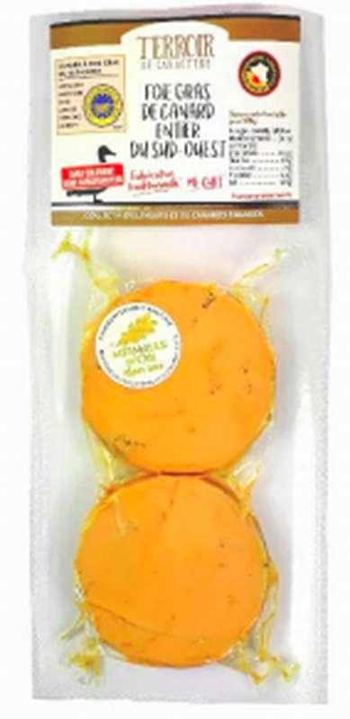 Duo foie gras de canard entier mi-cuit IGP, Panache des Landes (2 tranches de 35 g)