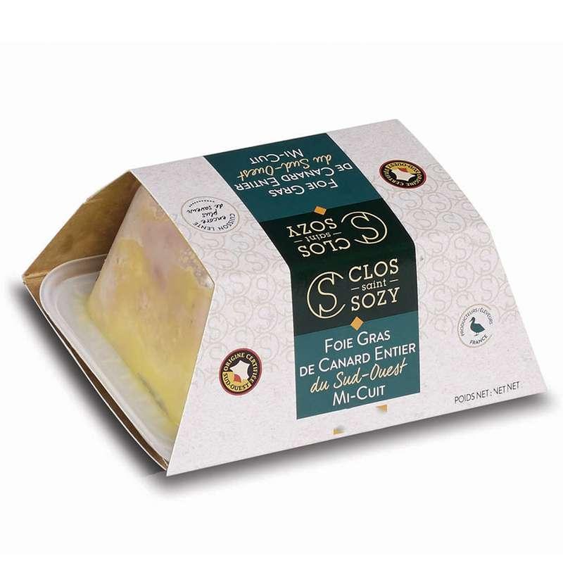 Foie gras de canard entier mi-cuit, Le clos Saint Sozy (500 g)