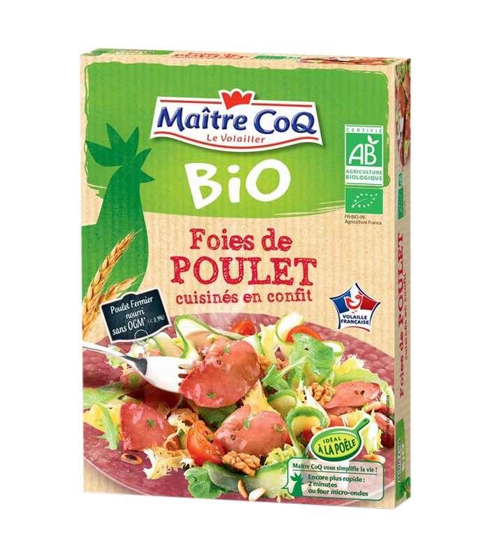 Foies de poulets confits BIO, Maître Coq (250 g)