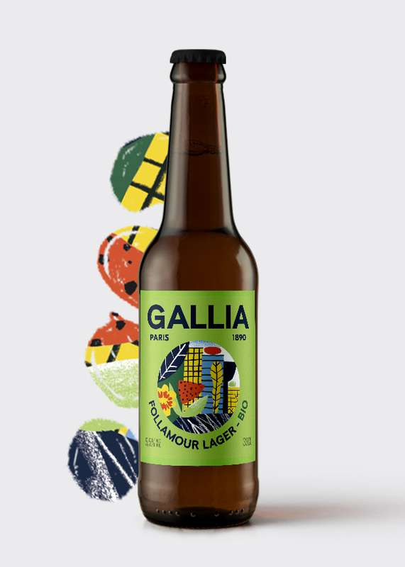 Follamour Lager BIO 5,5%, Gallia (33 cl)
