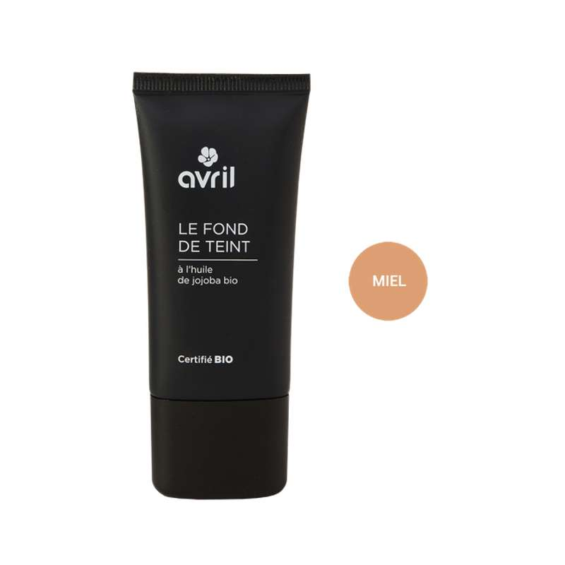 Fond de teint miel certifié BIO, Avril (30 ml)