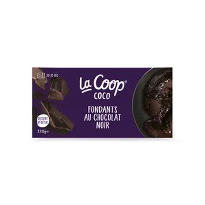 Fondant végétal au chocolat noir, La Coop Coco (x2, 180 g)