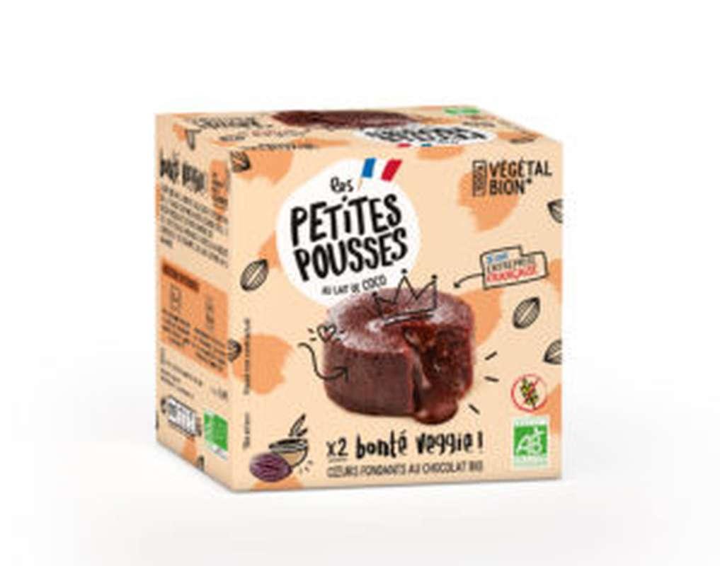 Fondants au chocolat végétal BIO, Les Petites Pousses (x2, 160 g)