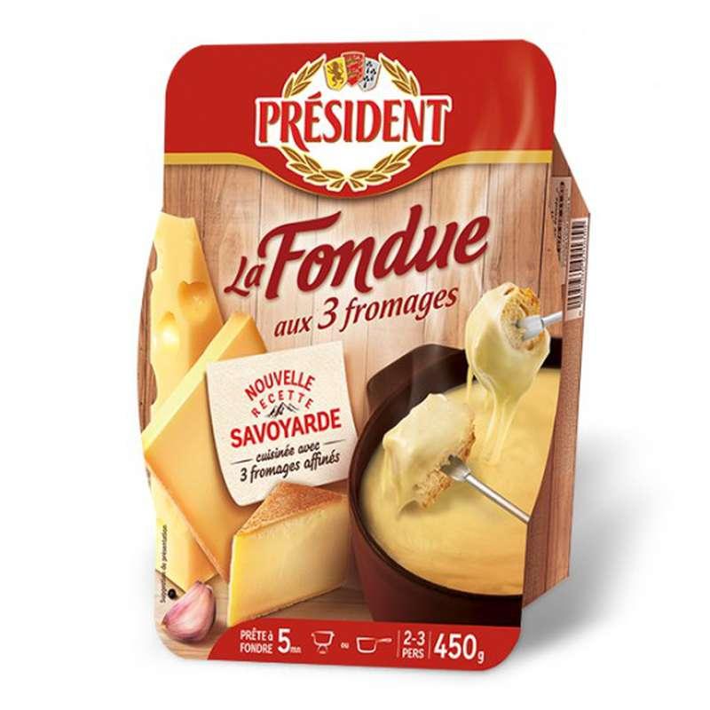 Fondue aux 3 fromages, Président (450 g)