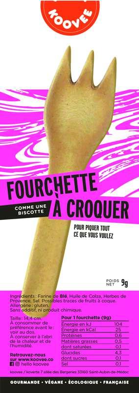 Fourchette comestible à croquer Nature, Koovee (11 g)