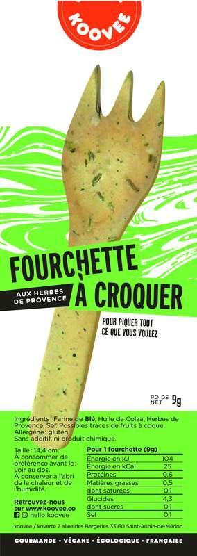 Fourchette comestible Herbes de Provence, Koovee (11 g)