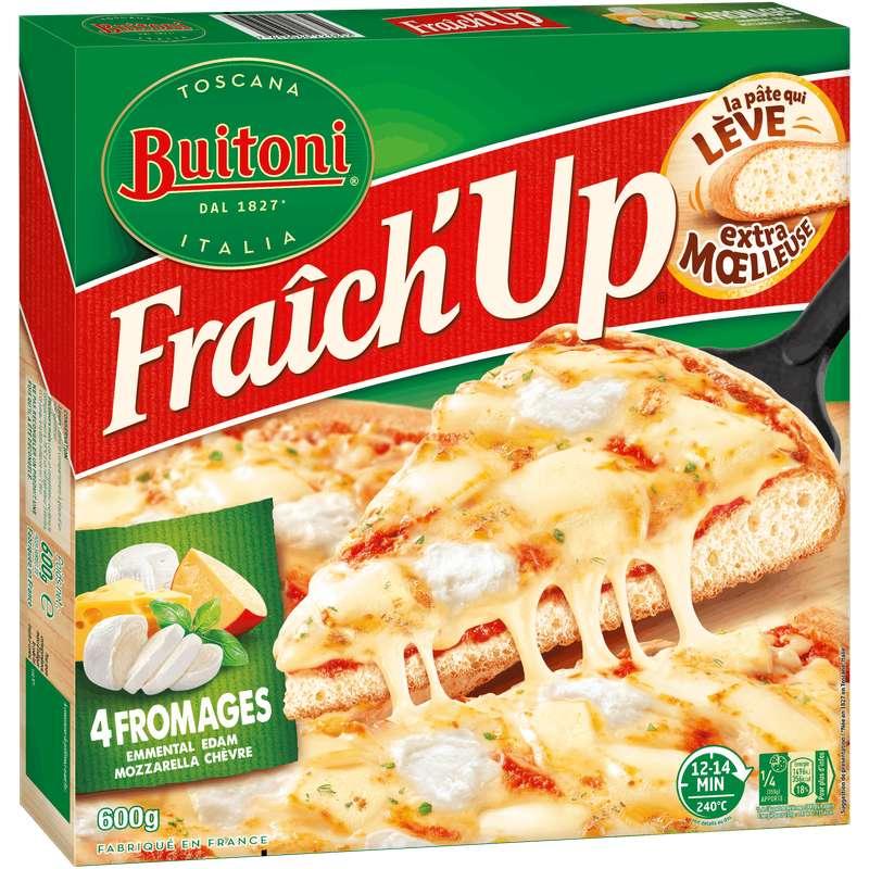 Pizza Fraich'up 4 fromages, Buitoni surgelés (600 g)