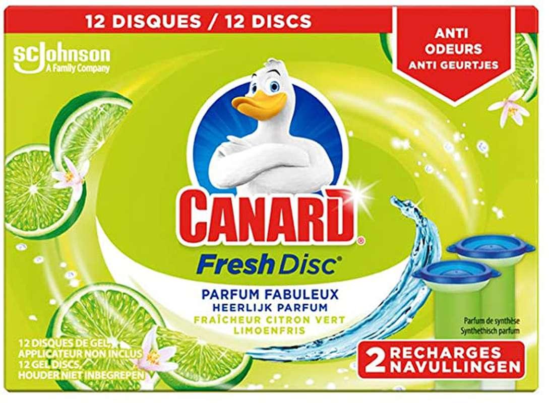 Fresh disc parfum citron vert, Canard (x 12)