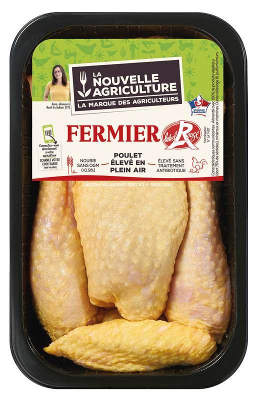 Fricassée de poulet fermier Label rouge, La Nouvelle Agriculture (500 g)