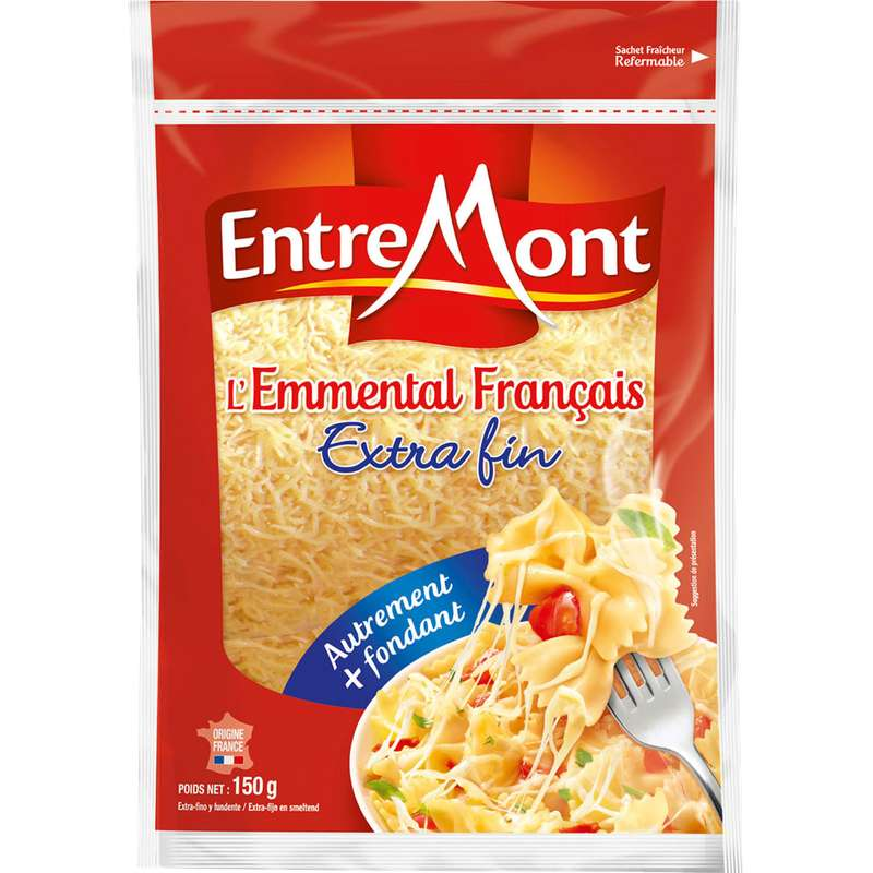 Emmental français râpé Extra fin, Entremont (160 g)