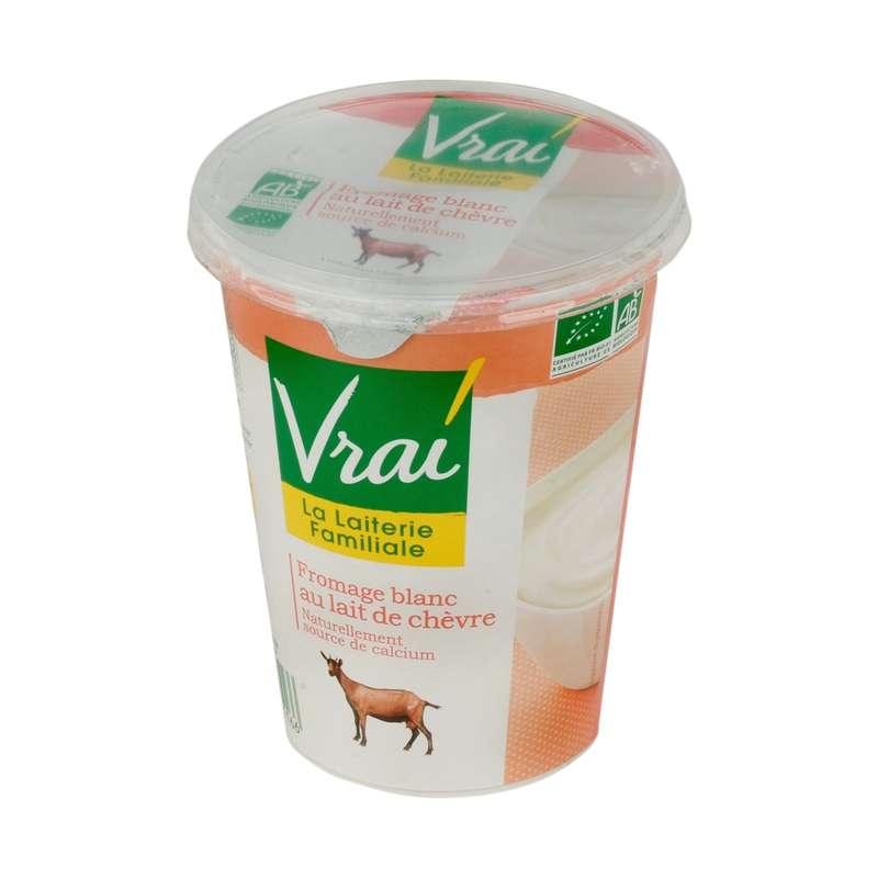 Fromage blanc nature au lait de chèvre BIO, Vrai (400 g)