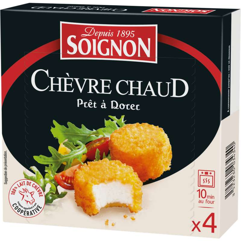 Fromage de chèvre à dorer, Soignon (x 4, 100 g)