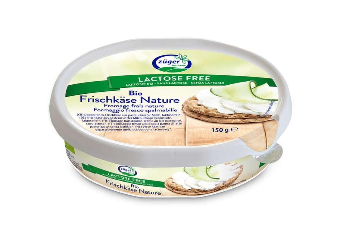 Fromage frais nature sans lactose BIO, Zuger (150 g)