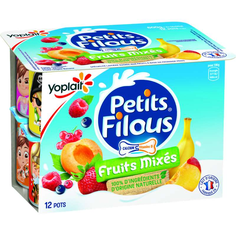 Petits filous aux fruits mixés, Yoplait (x 12, 600 g)