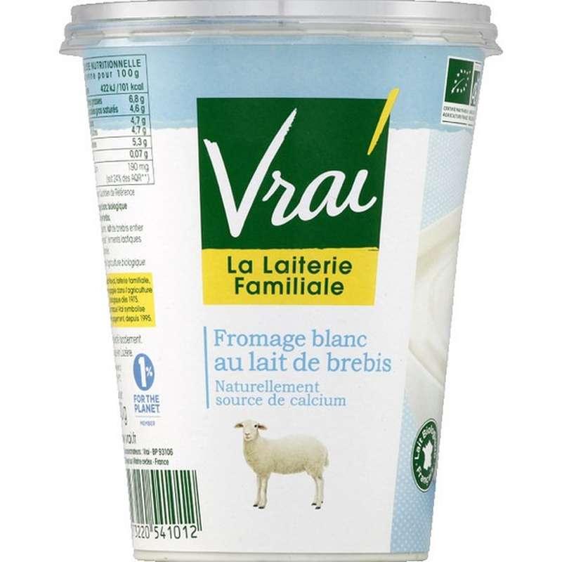 Fromage Blanc au lait de Brebis, Vrai (400 g)