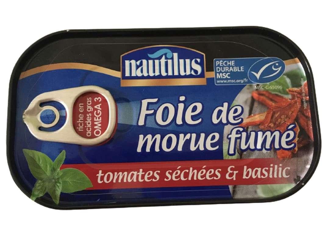 Foie de morue fumé tomates séchées et basilic, Nautilus (120 g)