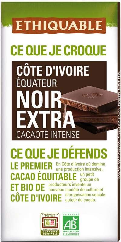 Chocolat noir BIO, Ethiquable (100 g)