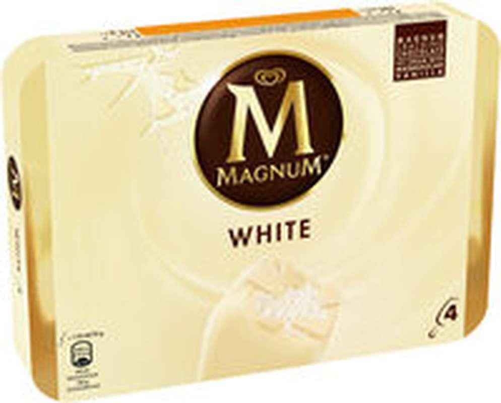 Glace Bâtonnets Chocolat Blanc, Magnum (x 4, 316 g)