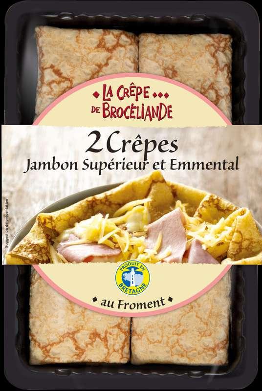 Crêpes Jambon supérieur et Emmental, La Crêpe Brocéliande (x 2, 280 g)