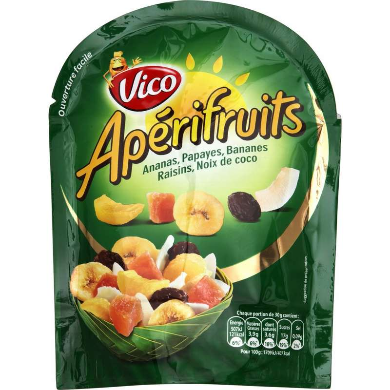 Fruits secs mélange Apérifruits, Vico (120 g)