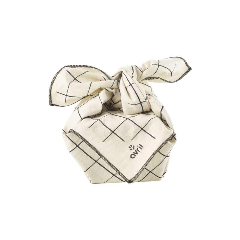 Furoshiki carreaux en coton BIO, Avril (52 x 52 cm)