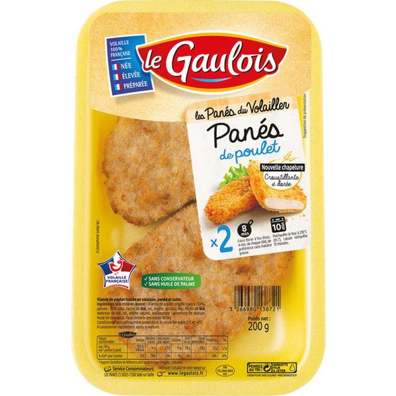 Blanc de poulet pané, Le Gaulois (x 2, 200 g)