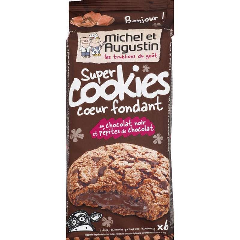 Super cookies coeur fondant tout chocolat, Michel et Augustin (180 g)
