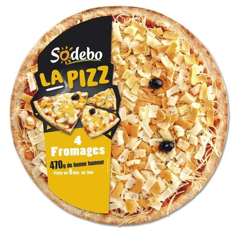 "Pizza ""La Pizz"" 4 fromages, Sodebo (470 g)"