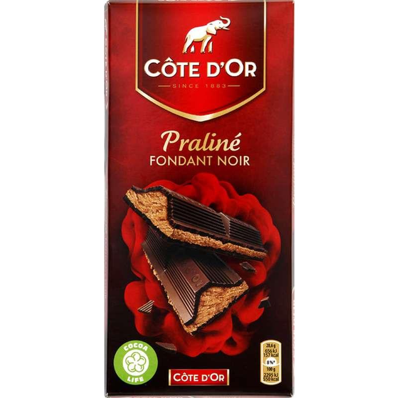 Chocolat noir fourré au praliné, Côte d'Or (200 g)