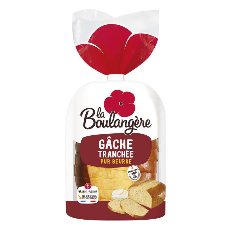 Gâche pur beurre tranchée, La Boulangère (400 g)