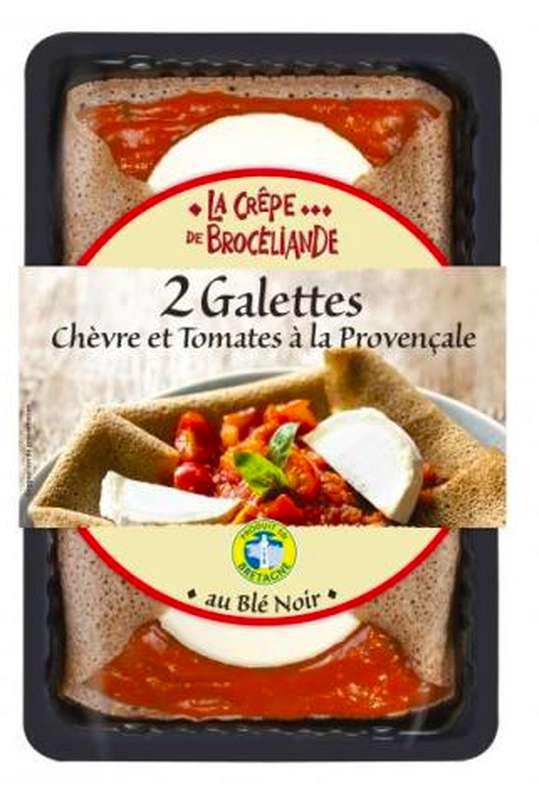 Galette au chèvre affiné et tomates à la provençale, La Crêpe Brocéliande (300 g)