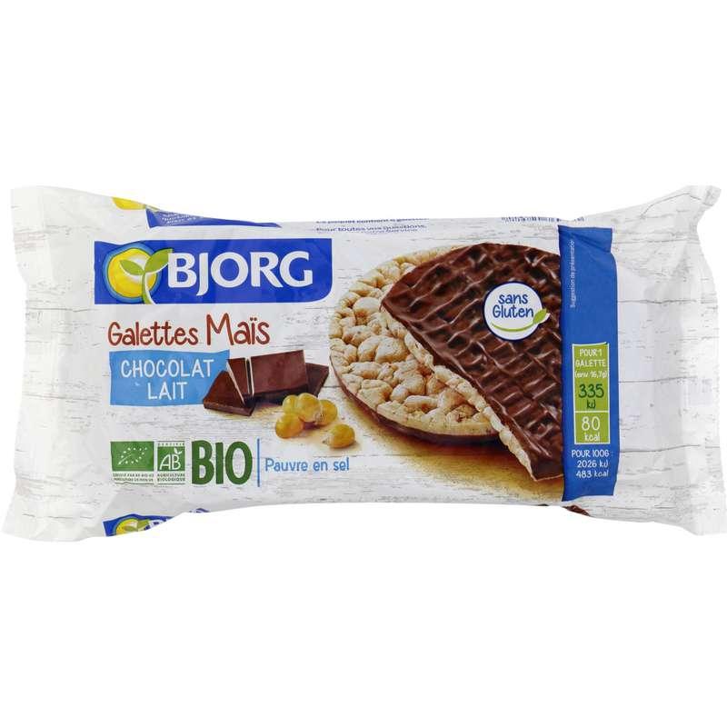 Galette de maïs au chocolat au lait BIO, Bjorg (100 g)