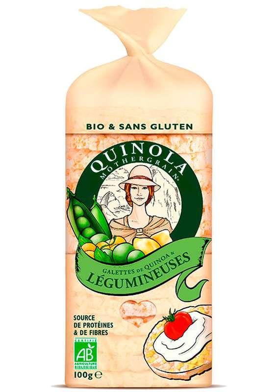 Galette légumineuses et quinoa BIO, Quinola (100 g)
