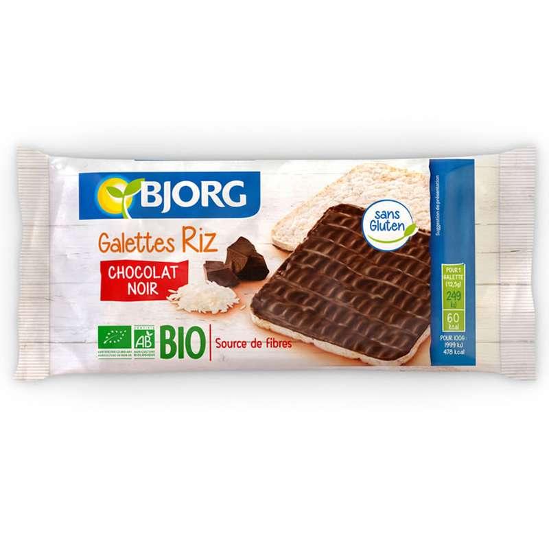 Galette de riz au chocolat noir BIO, Bjorg (x 8, 100 g)