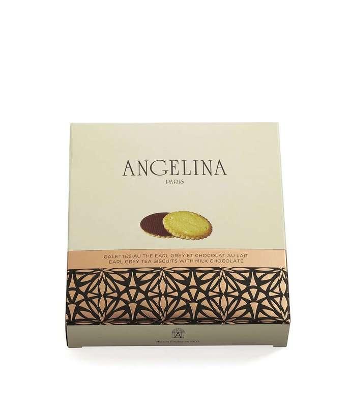 Galettes au thé Earl Grey et chocolat au lait, Angelina (105 g)