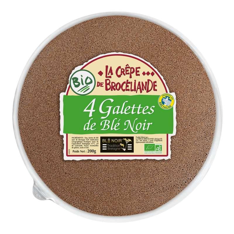 Galette de blé noir tradition Bretagne BIO, La Crêpe de Brocéliande (x 4, 260 g)