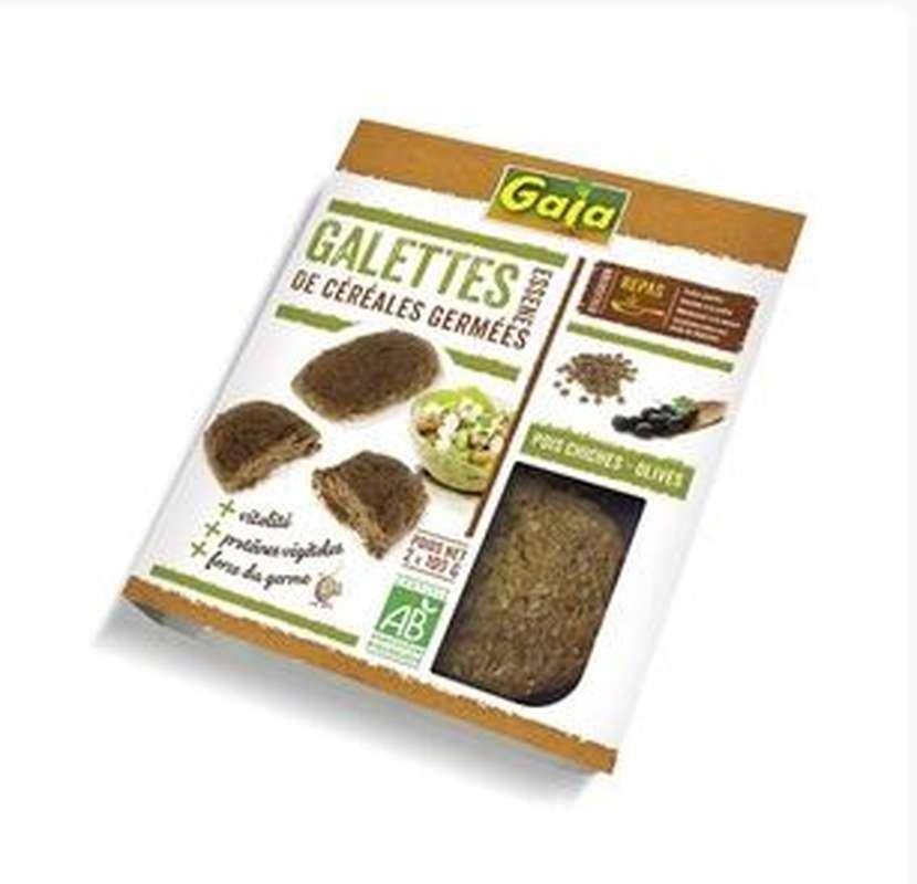 Galettes de céréales germées aux pois chiches BIO, Gaia (x 2, 200 g)