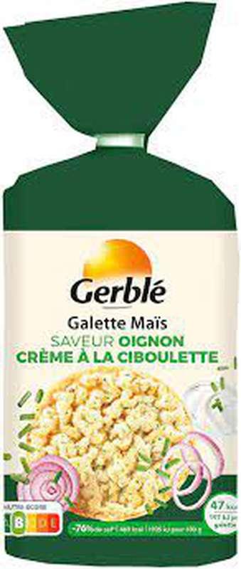 Galettes de maïs oignon et crème à la ciboulette, Gerblé (124 g)