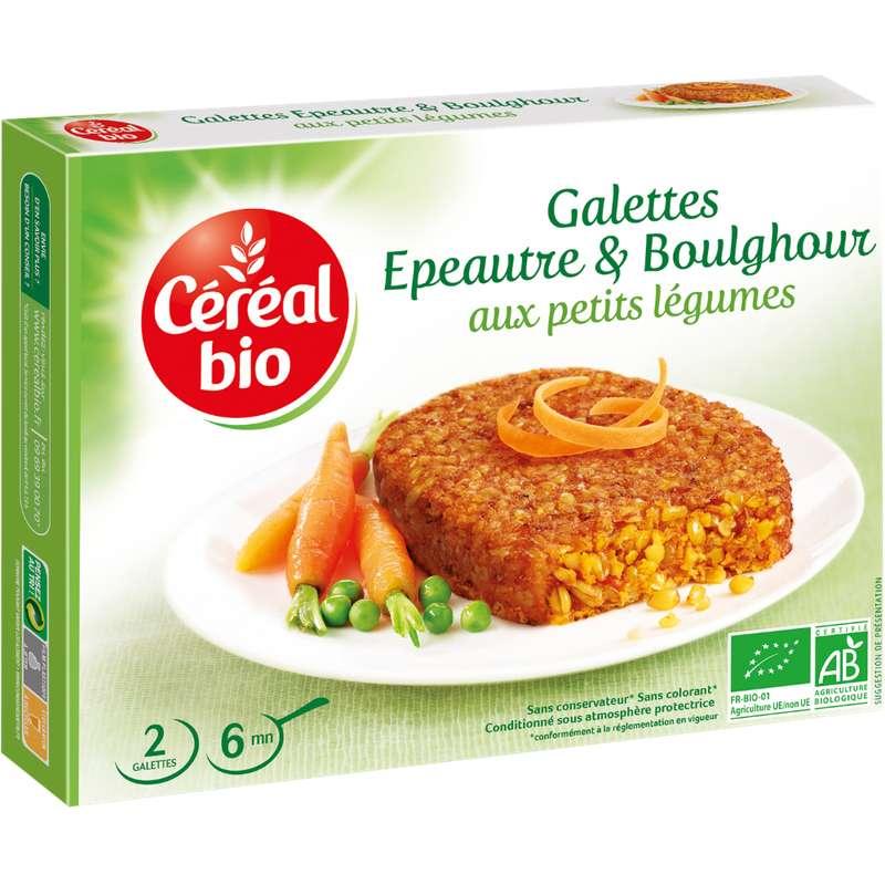 Galettes d'épeautre et boulghour aux petits légumes BIO, Céréal Bio (200 g)