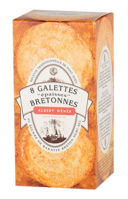 Galettes épaisses bretonnes au beurre de baratte demi-sel, Albert Ménès (160 g)
