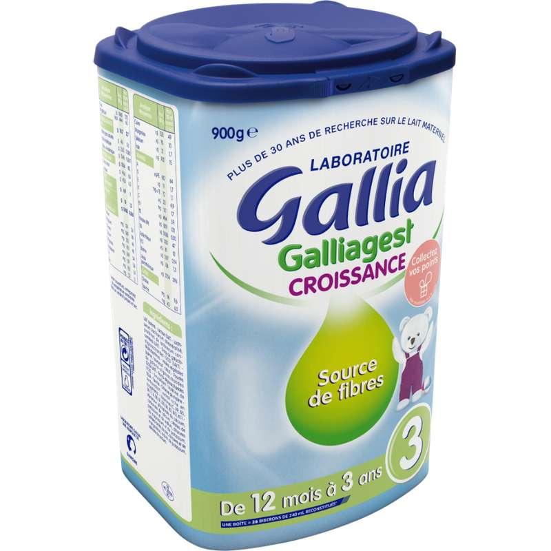 Lait de croissance 3 Galliagest - dès 12 mois, Gallia (900 g)