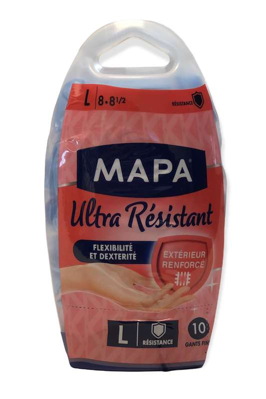 Gants fins Ultra Résistant, Mapa (x 10, taille L)