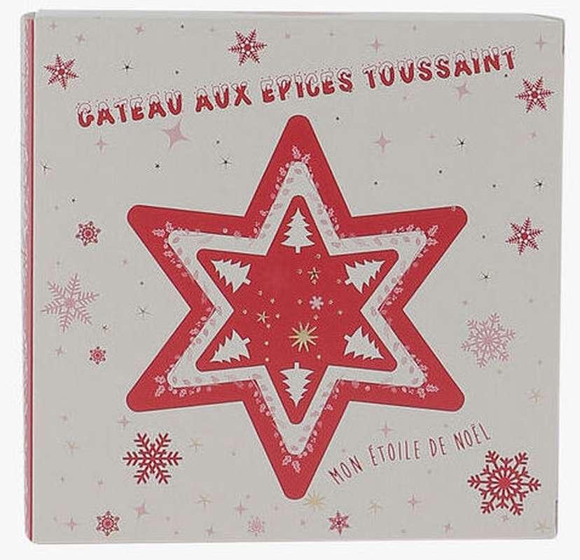 Gâteau aux épices - l'Étoile de Noël, Maison Toussaint (145 g)