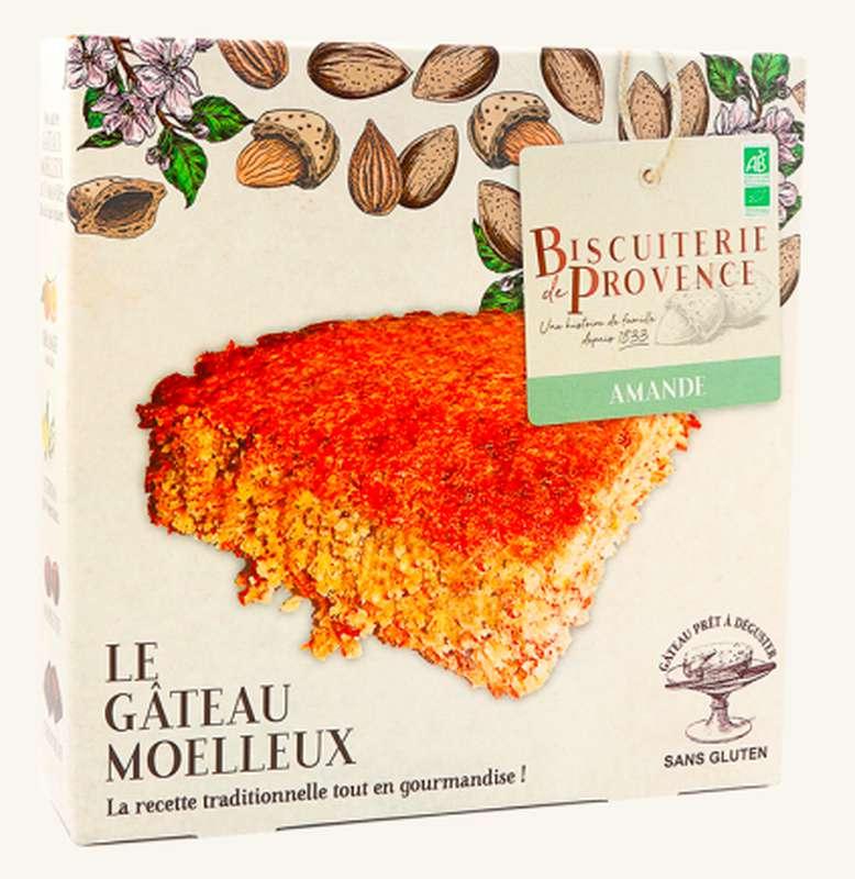 Gâteau moelleux aux amandes nature BIO Sans Gluten, Biscuiterie de Provence (225 g)