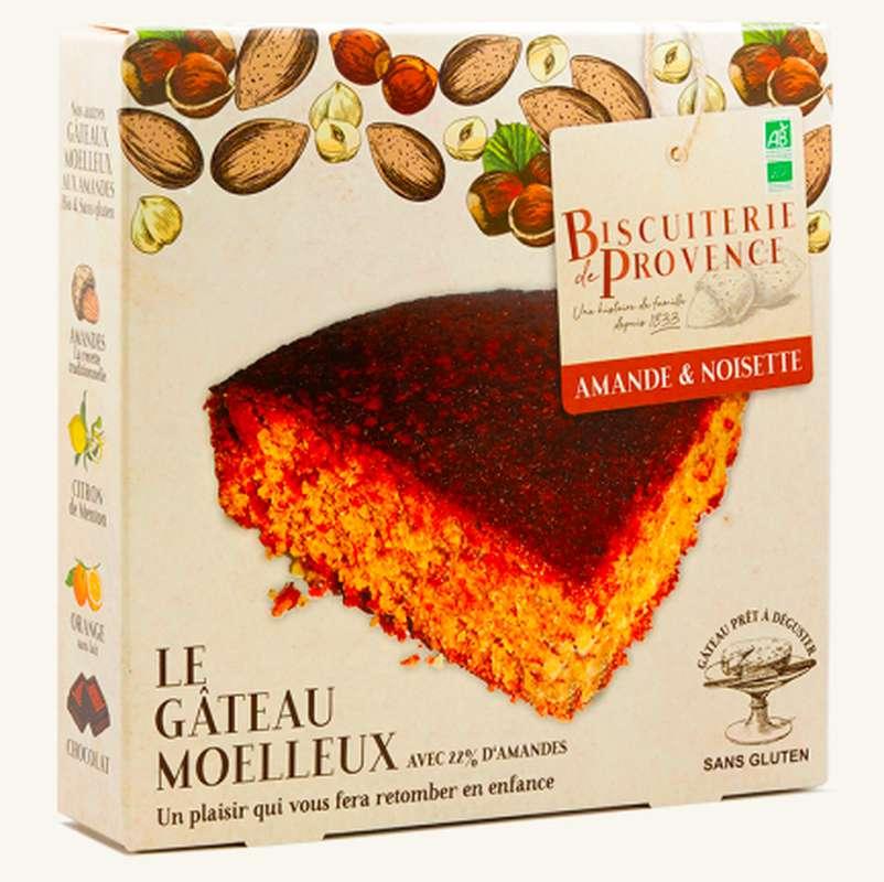 Gâteau moelleux aux amandes noisettes BIO Sans Gluten, Biscuiterie de Provence (225 g)