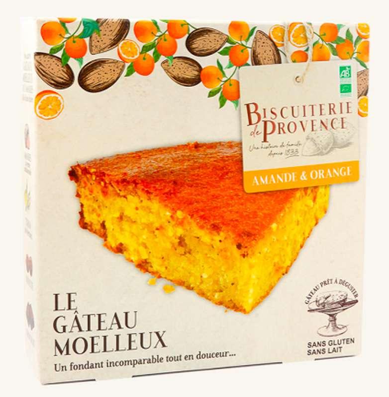 Gâteau moelleux aux amandes orange BIO Sans Gluten, Biscuiterie de Provence (225 g)