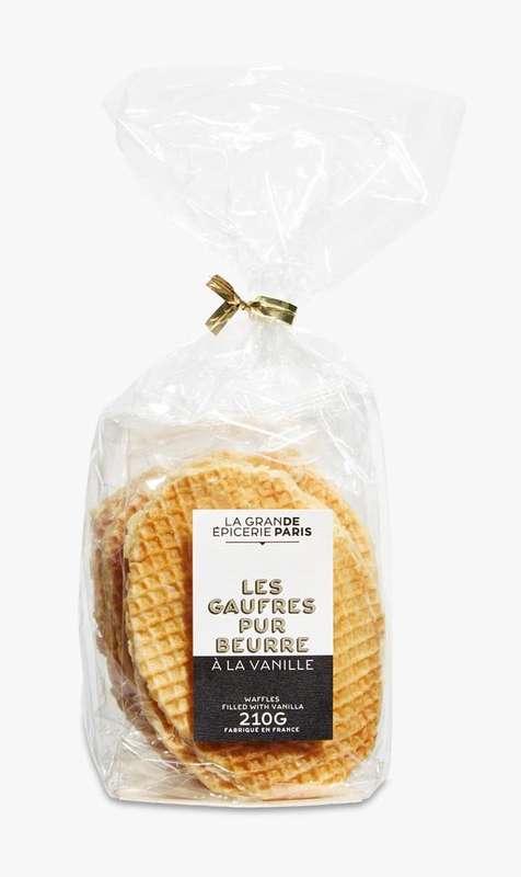 Gaufres pur beurre fourrées à la vanille, La Grande Epicerie de Paris (210 g)