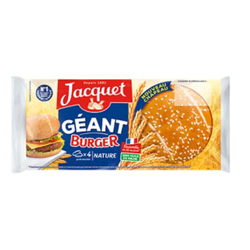 Pain à burger nature géant, Jacquet (x 4, 330 g)