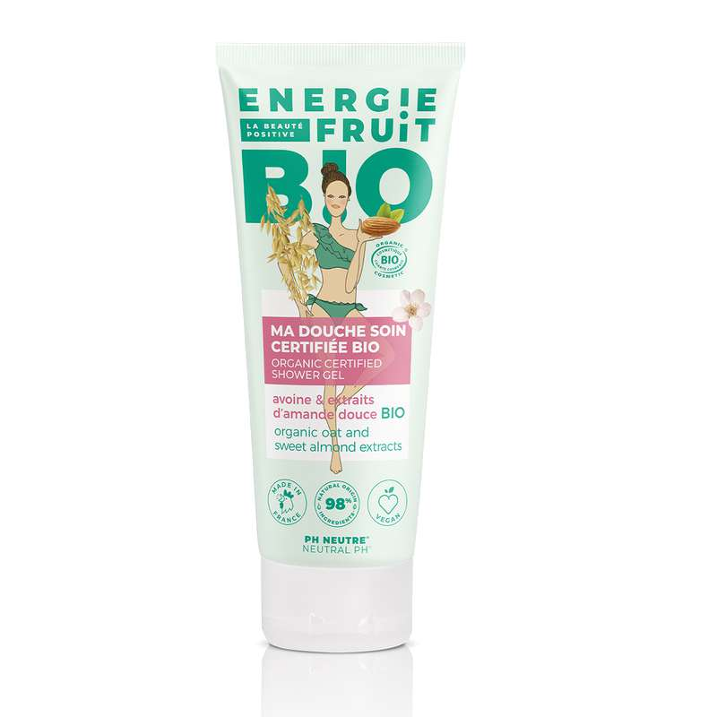 Gel douche BIO Avoine et amande douce, Energie Fruit (200 ml)